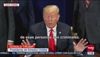 Trump afirma que migrantes en la caravana son criminales