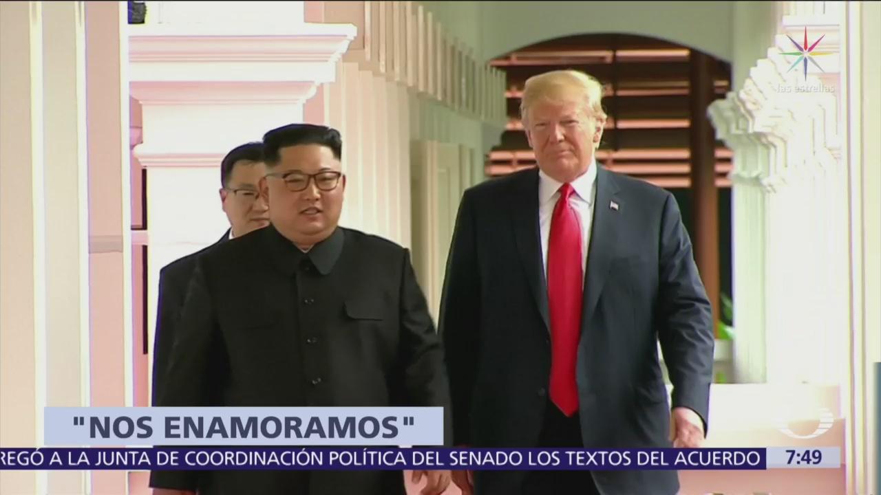 Trump dice que él y Kim Jong-un se han enamorado