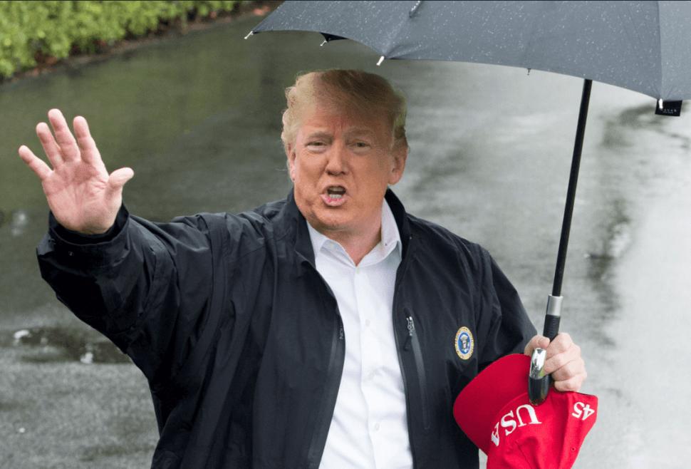 Trump visita Georgia y Florida tras el paso del huracán 'Michael'. (EFE)