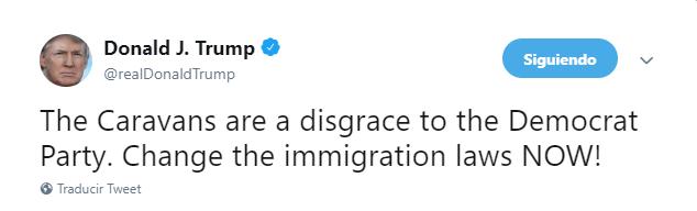 donald trump gobierno caravana migrante partido