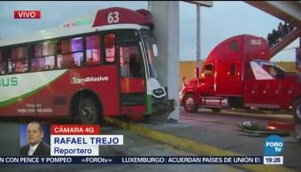 Unidad Del Mexibus Impacta Puente Peatonal Edomex