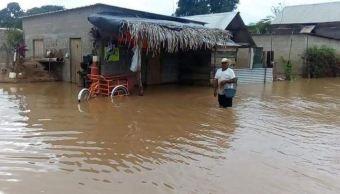 Desbordamiento de río afecta 790 viviendas en Hidalgotitlán