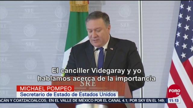 Videgaray Se Reúne Michael Pompeo Hablar Migrantes