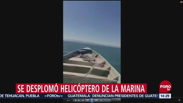 Video Muestra Rescate Marinos Helicóptero Accidentado