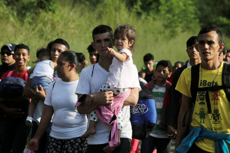 hondureños ley mexico sre caravana migrantes