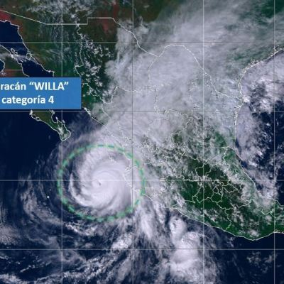 'Willa' se degrada a categoría 4; emiten declaratoria de emergencia en Sinaloa y Nayarit