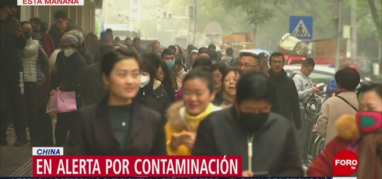 Alerta en China por contaminación