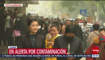 Alerta en China por contaminación