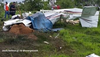 Accidente de avioneta deja cinco muertos en Brasil