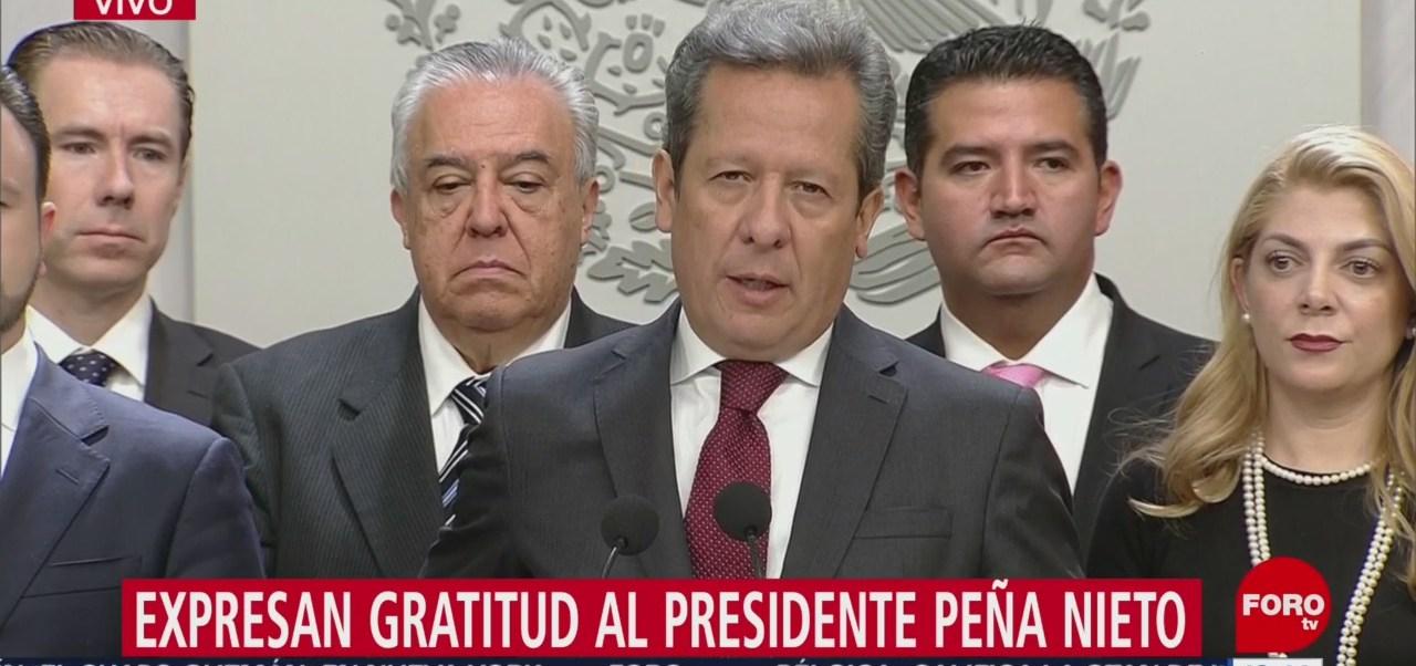 Agradece Eduardo Sanchez apoyo del presidente Peña Nieto