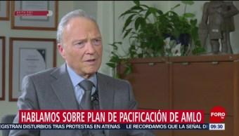 Alejandro Gertz Manero habla del Plan Nacional de Pacificación de AMLO