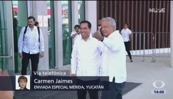 AMLO se reúne con gobernadores para analizar Tren Maya