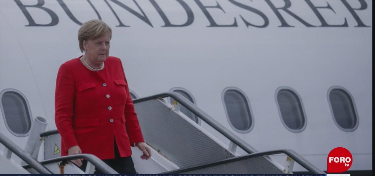 Angela Merkel cambia de avión, luego de fallas en aeronave que la transportaba