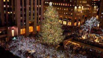 Encienden Luces Árbol Navidad Rockefeller Centro