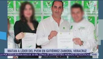 Asesinan al líder del PVEM en Gutiérrez Zamora, Veracruz