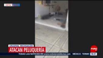Ataque En Peluquería Tres Muertos Uruapan, Michoacán Ataque Armado Colonia Viveros