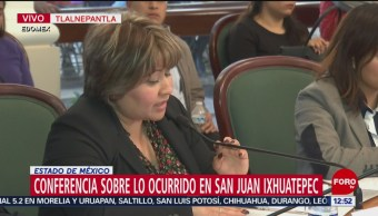 Autoridades de Tlalnepantla rinden informe sobre bloqueo en San Juanico