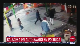 Balacera Autolavado Pachuca, Hidalgo