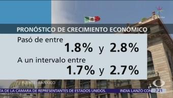 Banco de México recorta estimación de crecimiento para 2019