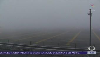 Banco de niebla afecta el AICM y zona circundante