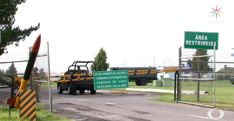 Santa Lucía, futura sede del nuevo aeropuerto, resguarda armas