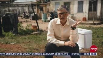 Bill Gates presentó inodoro que no necesita agua