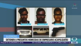Capturan a 3 asesinos del empresario César Zambrano