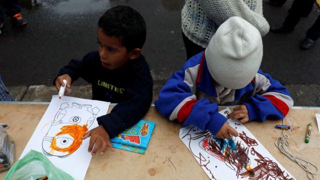 caravana migrante fe de ninos migrantes cobijada en iglesia puebla