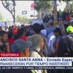 Caravana migrante permanecerá por tiempo indefinido en Tjuana
