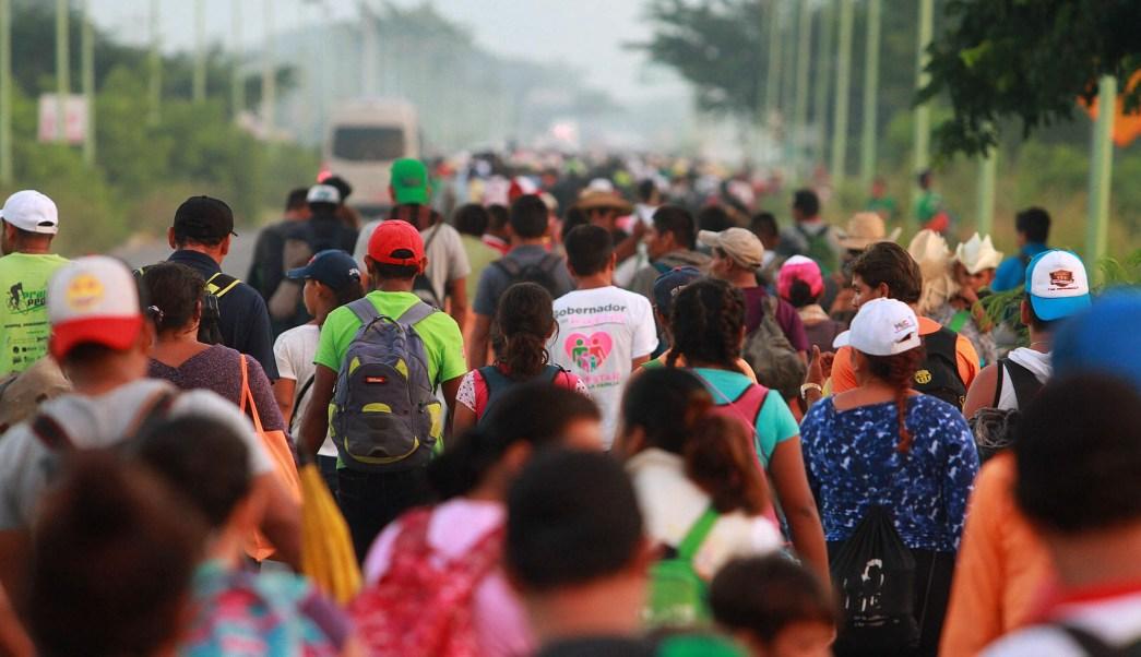 Segunda caravana migrante se reduce por hambre y cansancio