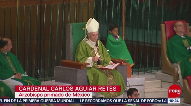 Cardenal Carlos Aguiar llama a interponer la caridad ante el egoísmo y la envidia