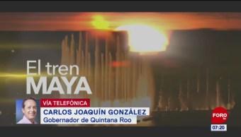 Carlos Joaquín: Tren Maya mejorará movilidad y vinculará zonas turísticas