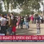 Cerrarán albergue en deportivo en Tijuana