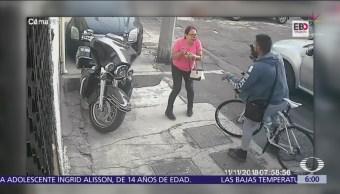 Ciclista asalta a mujer en la colonia Jardín Balbuena