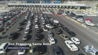 Cientos De Automovilistas Garita San Ysidro