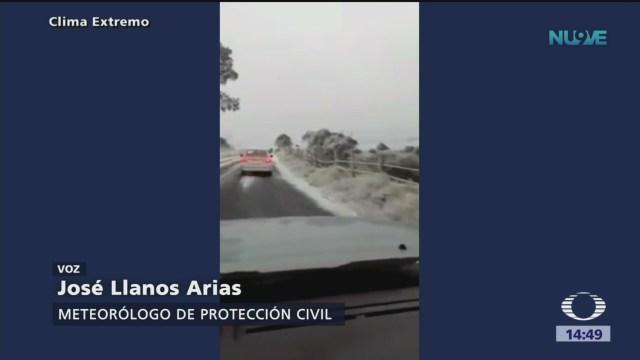 Coahuila registra temperaturas bajo cero