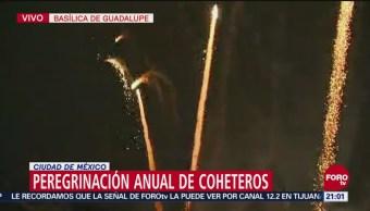 Coheteros Realizan Peregrinación Basílica De Guadalupe