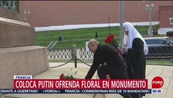 Coloca Putin ofrenda a soldados rusos que lucharon en Primera Guerra Mundial