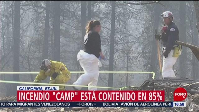 Contienen 85 del fuego forestal en California