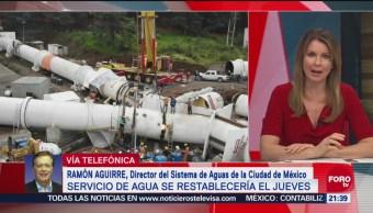 Contingencia Por Falta Permanece Sistema De Aguas De Cdmx Ramón Aguirre, Director Sistema De Aguas De La Cdmx, Retraso En Los Trabajos Del Cutzamala