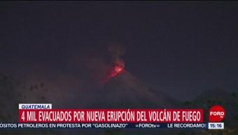 Alerta En Guatemala Erupción Del Volcán De Fuego Alerta Roja Nueva Erupción Del Volcán De Fuego Desalojo De Casi 4 Mil Personas Comunidades Aledañas
