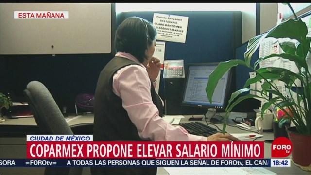 Coparmex propone salario mínimo de 102 pesos diarios