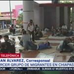 Cuarta caravana de migrantes llega a Mapastepec