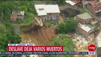 Deslave deja al menos 14 muertos en Brasil