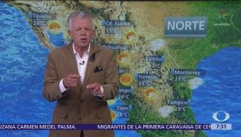 Despierta con Tiempo: Frente frío 9 provoca tormentas con granizo