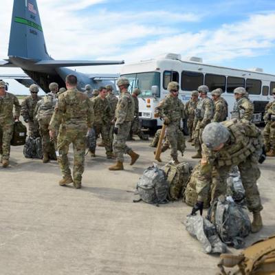 Difunden imágenes del despliegue militar en frontera México-EU