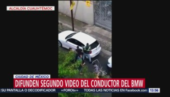 Difunden segundo video del conductor del BMW