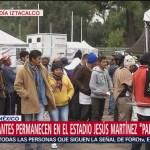 Dos mil migrantes permanecen en la Magdalena Mixhuca, CDMX
