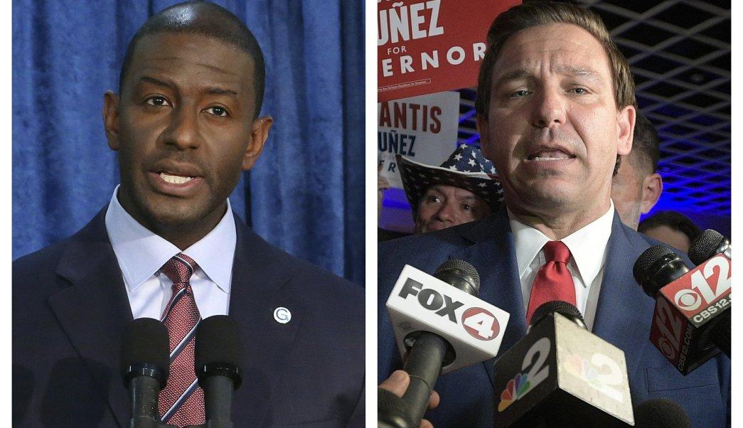 Candidato demócrata a gobernador de Florida concede victoria a republicano