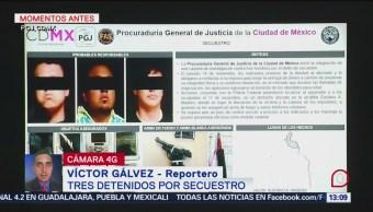Detienen A Tres Personas Por Secuestro En La CDMX Procuraduría General De Justicia PGR Delito De Secuestro Ciudad De México